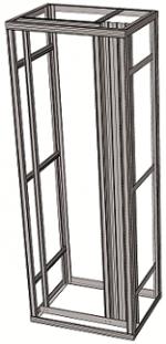 Flexi rack with organizing-profile - freestanding