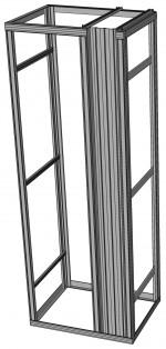 Flexi rack with organizing-profile - 1 module - freestanding